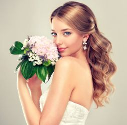 bride hair style, stylist, hair salon, lotus salon